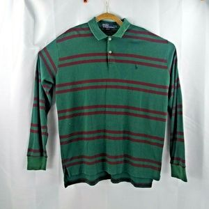 Polo Ralph Lauren Mens XL Green Striped Long Sleev